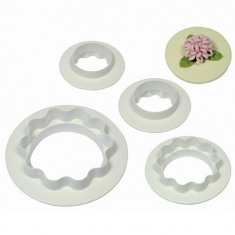 Round & Wavy Edge Cutters Set of 4