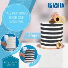 Λωρίδες - Ψηλές Ξύστρες για πλαϊνά Τούρτας της PME  (Stripes)