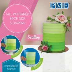 Scallop Tall Patterned Edge Side Scrapers by PME