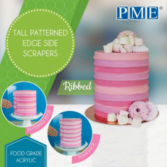 Ribbed Tall Patterned Edge Side Scrapers by PME