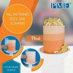 Pleat Tall Patterned Edge Side Scrapers by PME