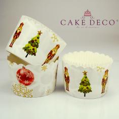Χριστουγεννιάτικα Στρατιωτάκια - Θήκες Cupcakes με καραμελόχαρτο Μεγάλα Δ7xΥ4,5εκ. -  65τεμ