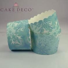 Χιονονιφάδες - Θήκες Ψησίματος Cupcakes με καραμελόχαρτο Μεγάλα Δ7xΥ4,5εκ. -  65τεμ