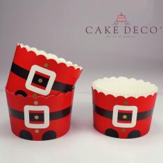 Αι Βασίλης με ποδαράκια - Θήκες Cupcakes με καραμελόχαρτο Μεγάλα Δ7xΥ4,5εκ. -  20τεμ