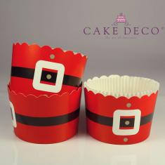 Santa Cupcake Baking Cases  with anti-stick liner D7xH4,5cm. 20pcs