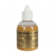 Gold Glitter Airbrush SugarFlair 60ml