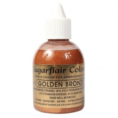 Golden Bronze Glitter Airbrush SugarFlair 60ml