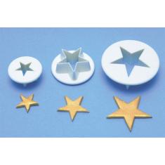 PME 3 Σετ Κουπάτ Αστέρια (1,8-2,5-3,5εκ)