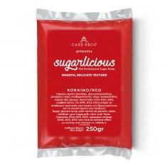 Ζαχαρόπαστα Sugarlicious Κόκκινο 250γρ