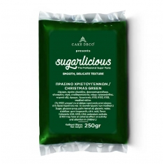 Sugarlicious Sugar Paste ready to Roll Xmas Green 250gr.