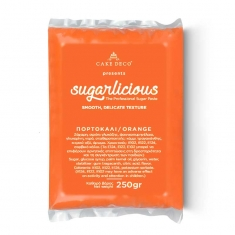 Sugarlicious Sugar Paste ready to Roll Orange 250gr.