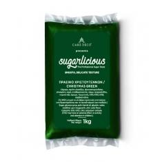 Sugarlicious Sugar Paste ready to Roll Xmas Green 1kg.