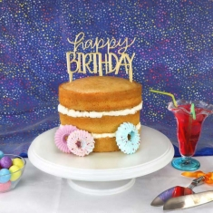 Modern Happy Birthday Topper Cutter