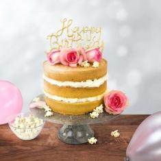 Κουπάτ για Happy Birthday  Topper σε Script Γραμματοσειρά