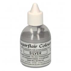 Ασημί Μεταλλικό Γκλίτερ χρώμα Αερογράφου της SugarFlair 60ml