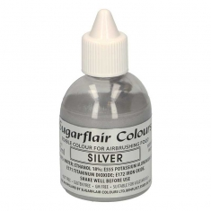 Metallic Silver Glitter Airbrush SugarFlair 60ml