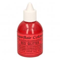 Κόκκινο Μεταλλικό Γκλίτερ χρώμα Αερογράφου της SugarFlair 60ml