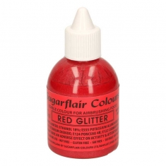 Metallic Red Glitter Airbrush SugarFlair 60ml