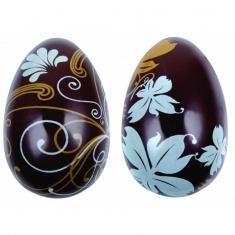 Καλούπι Αυγών Σοκολάτας με εκτύπωση σε μεταλλικό χρυσό και γαλάζιο  χρώμα 10 φύλλα