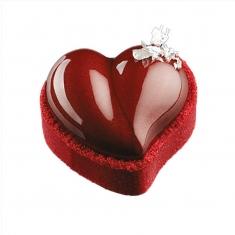 Φόρμα Σιλικόνης σε σχήμα καρδιάς για Ατομικό Παστάκι/Τάρτα