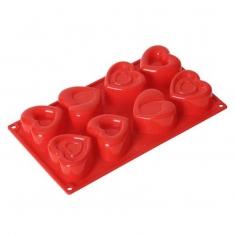 Mixed Hearts  Mold 8pcs 110ml