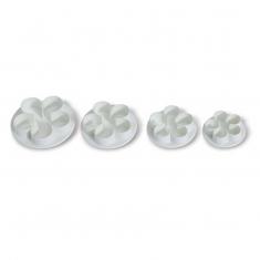 5 Petal Flower Cutter Set 4pcs D30/35/45/50 mm