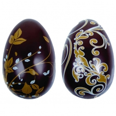 Καλούπι Αυγών Σοκολάτας με εκτύπωση σε μεταλλικό χρυσό και γαλάζιο  χρώμα 1 φύλλο