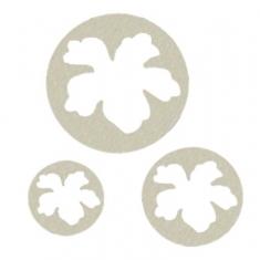 Hawaiian Flower set of 3