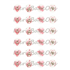 Love - Meri BakeOns Meringue Design Baking Sheets