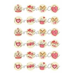 Δώρα αγάπης Meri BakeOns Φύλλο για Mαρεγκάκια