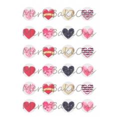 Διάφορες καρδούλες Meri BakeOns Φύλλο για Mαρεγκάκια
