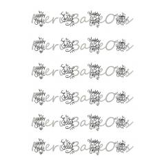 Love Patterns - Meri BakeOns Meringue Design Baking Sheets