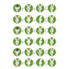 Πράσινα Λαγουδάκια Meri BakeOns Φύλλο για Mαρεγκάκια