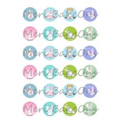 Bunny Mix Meri BakeOns Φύλλο για Mαρεγκάκια