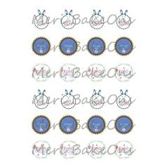 Καλό Πάσχα Meri BakeOns Φύλλο για Mαρεγκάκια