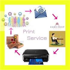 Υπηρεσία βρώσιμης εκτύπωσης σε χαρτί Βάφλας Α4 (Wafer Paper)- Με Επεξ. Εικόνας