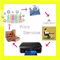 Edible Printing Service - A4 - With Editing - Decor Plus Paper