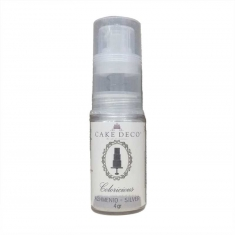Χιονονιφάδα Λευκό-Ασημί Περλέ Σπρέι Σκόνης 4γρ Coloricious