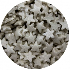 Sprinklicious Mini Silver Stars 1kg 8mm