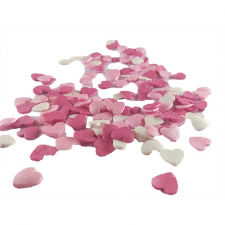 Sprinklicious HeartWarmers Sprinkle Mix (Pearl White, Pink, Fucshia) 1kg