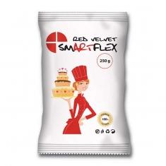 Κόκκινη Ζαχαρόπαστα SmartFlex Velvet 250γρ. - Βανίλια