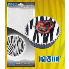 Bold Zebra Design Impression Mat