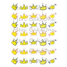 Κορωνίτσες - Σχέδια Meri BakeOns Φύλλο για Mαρεγκάκια