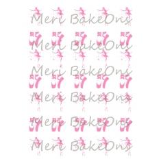 Ballerinas and Ballet Shoes - Meri BakeOns Meringue Design Baking Sheets