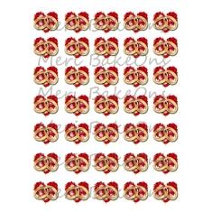 Wedding Rings with Hearts - Meri BakeOns Meringue Design Baking Sheets