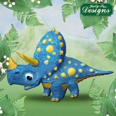 Τρικεράτωψ Δεινόσαυρος - Καλούπι Σιλικόνης της Katy Sue