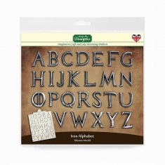 Iron Alphabet Silicone Mould by Katy Sue