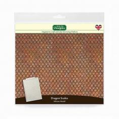 Λέπια - Δέρμα Δράκου -  Καλούπι Σιλικόνης της Katy Sue