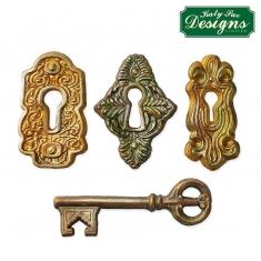 Διακοσμητικές Κλειδαριές Κλειδ - Καλούπι Σιλικόνης της Katy Sue