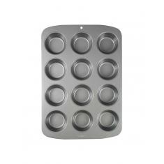 Αντικολλητικό Ατσάλινο Ταψί για 12 Cupcake/Muffin της PME 45x26,5x5εκ